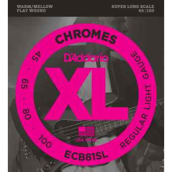 D´addario ECB81SL Chromes Light Super Long Scale cuerdas de bajo
